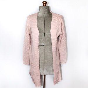 🎀 Soya Concept Light Pink Waffle Knit Cardigan L